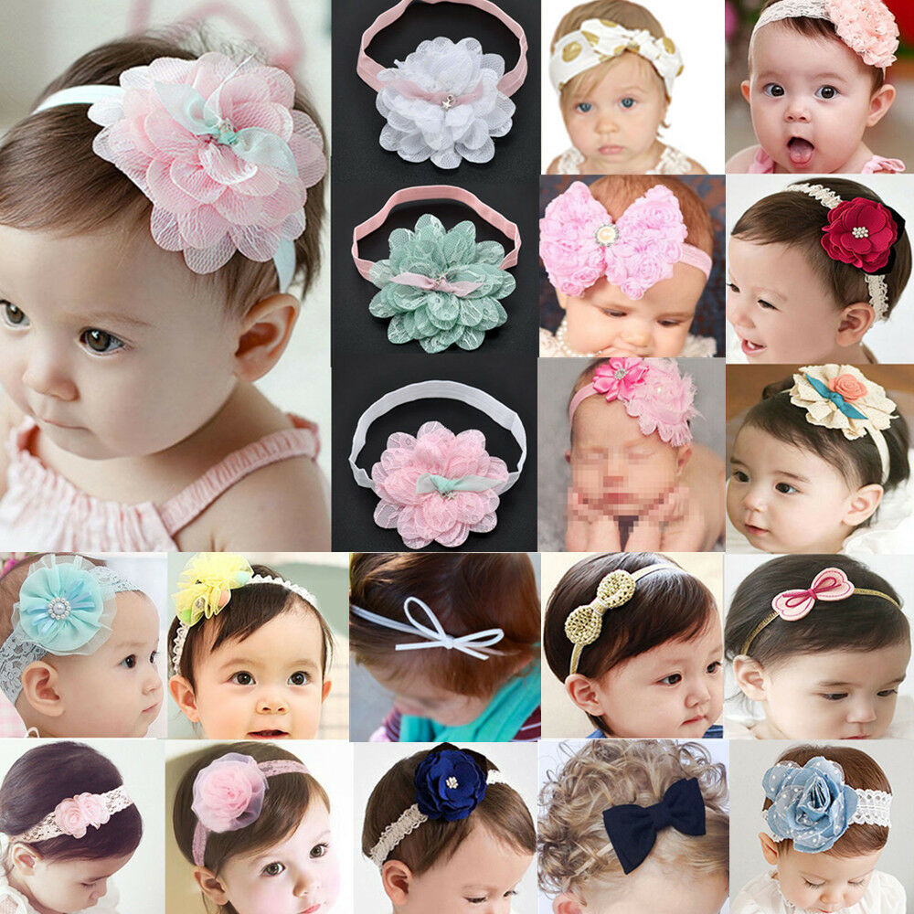 Girls' Accessories Kids Girl Baby Headband Toddler Lace Bow Flower Infant Hair Band Accessories Lot