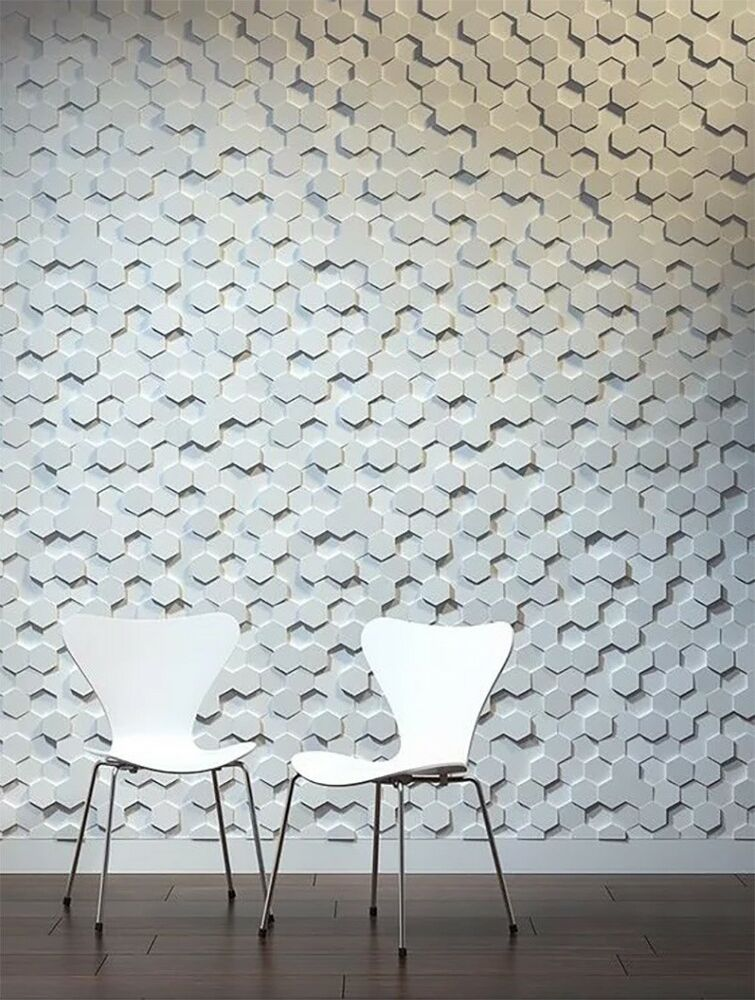 Decorative Wall Panels For Living Room: *HONEYCOMB* 3D Decorative Wall Panels 1 Pcs ABS Plastic