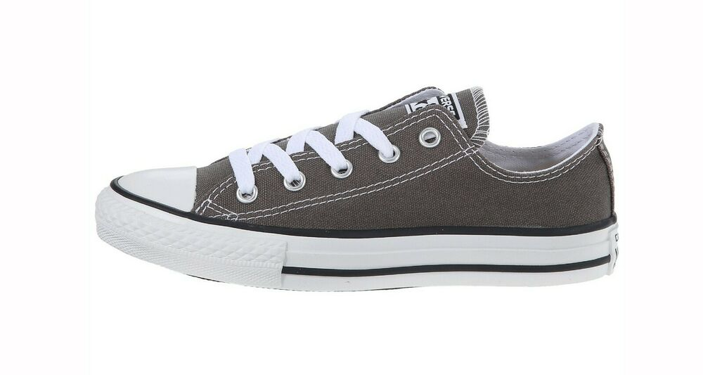 3934cdf1cd1499 Details about Converse Chuck Taylor All Star Low Gray Charcoal Youths  Children Girls Boys Shoe
