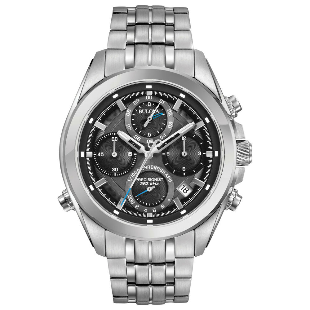 Bulova precisionist men 39 s 96b260 chronograph quartz gray dial watch 692754051140 ebay for Watches bulova