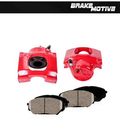 For 1983 - 1992 1993 1994 Ford Ranger Front Red Brake Calipers & Ceramic Pads