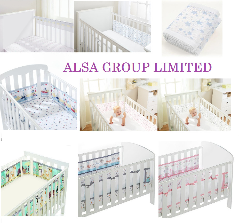 Breathable Baby Airflow Mesh Liner Bumper For 2 Sided