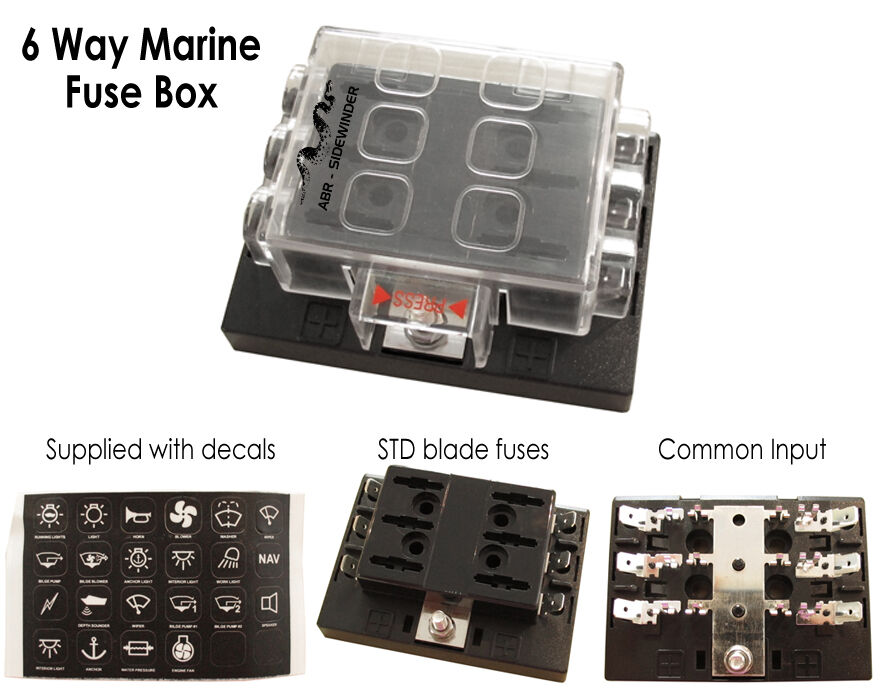 s l1000 fuse box 6 way marine type single input abr sidewinder ebay Circuit Breaker Box at gsmportal.co