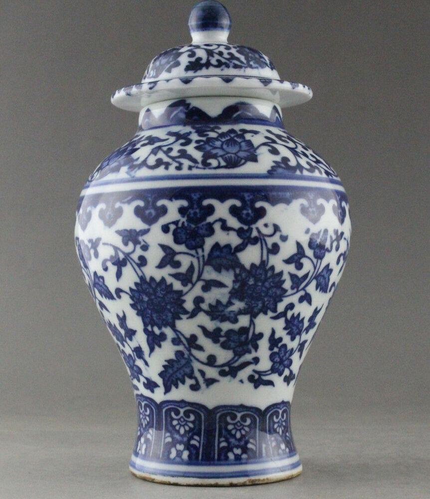 Fine China Hand Painted Flower Blue And White Porcelain