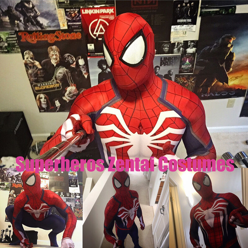 Details about NEW PS4 INSOMNIAC SPIDERMAN SUIT 3D Print Spandex Games Spidey  Cosplay Suit 3d5210ffbfaf