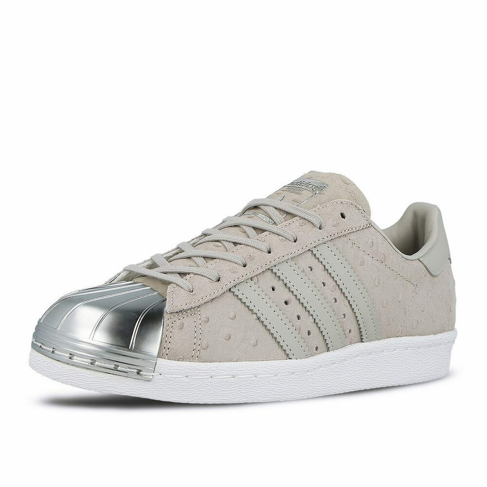 adidas womens superstar 80 39 s metal toe clear grey leather shoes trainers ebay. Black Bedroom Furniture Sets. Home Design Ideas