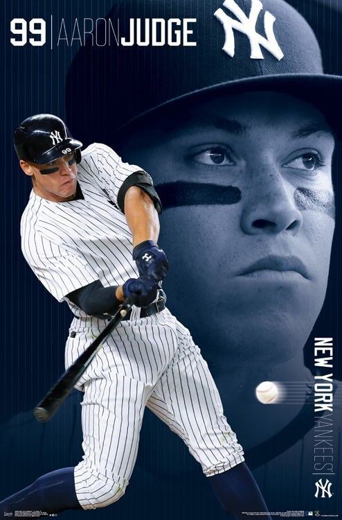 Aaron Judge New York Yankees Poster 22x34 Mlb Baseball