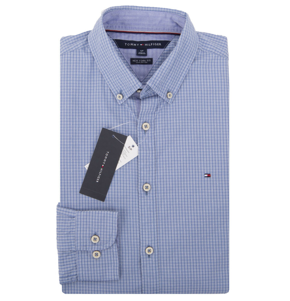 Tommy Hilfiger Mens Long Sleeve New York Fit Casual Shirt 0 Free