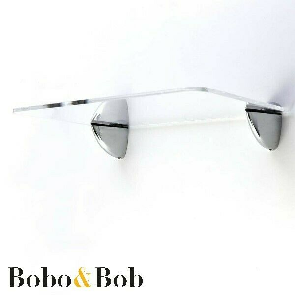 acrylic safety shelf clear colours chrome brackets glass alternative ebay. Black Bedroom Furniture Sets. Home Design Ideas