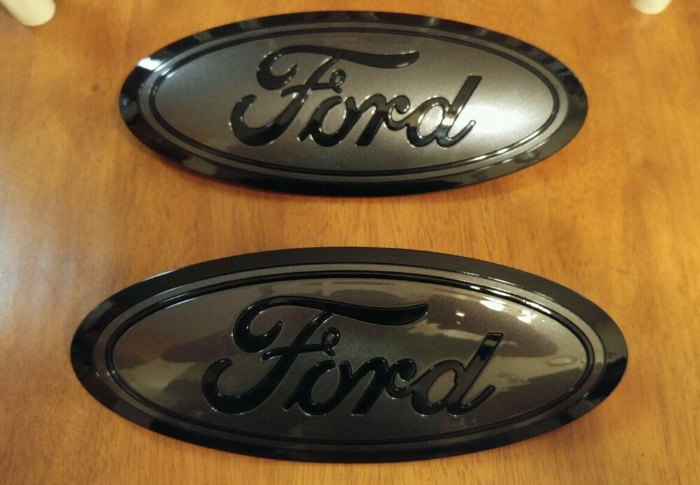 2015 F150 Black Grille >> 2015-2017 Ford F150 GRILL and TAILGATE emblem GLOSS magnetic & black PAIR | eBay