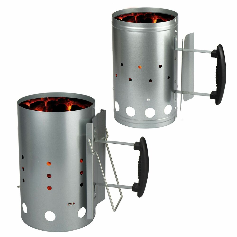 Barbecue Chimney Starter Quick Start Bbq Grill Charcoal