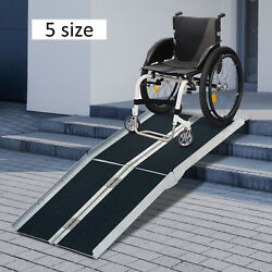 2/4/6/8/10ft Folding Aluminum Wheelchair Ramp  Portable Mobility Scooter Carrier