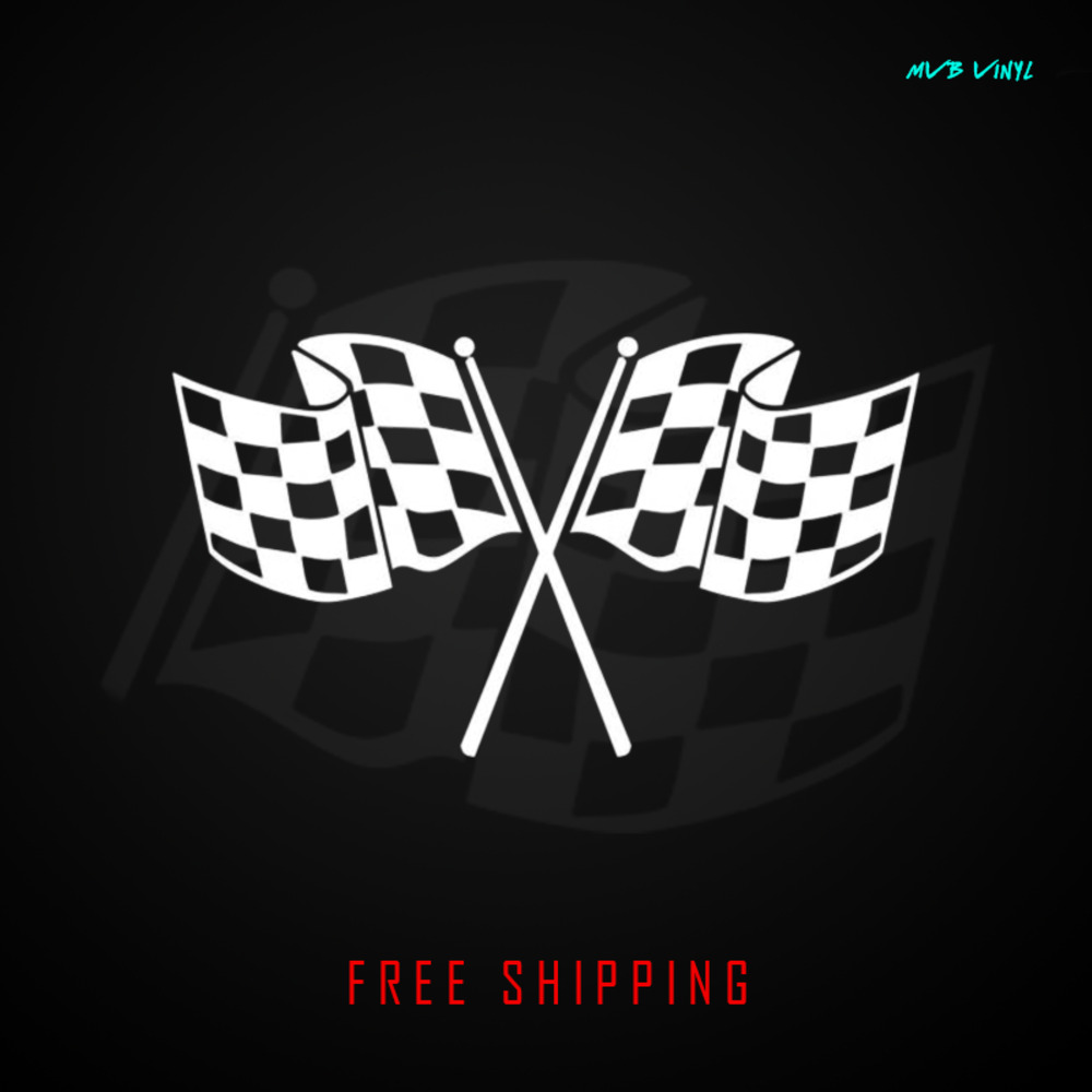 Finish Line Motors >> Checkered Flag Vinyl Decal Sticker racing jdm car race racing finish line 381 | eBay