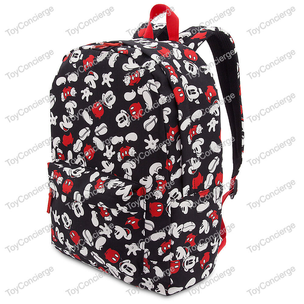 Disney store backpack for adults mickey mouse print black nwt 427244156773 ebay - Disney store mickey mouse ...