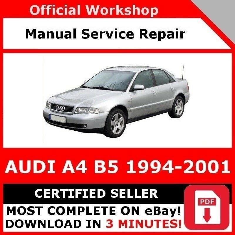 factory workshop service repair manual audi a4 b5 1994. Black Bedroom Furniture Sets. Home Design Ideas
