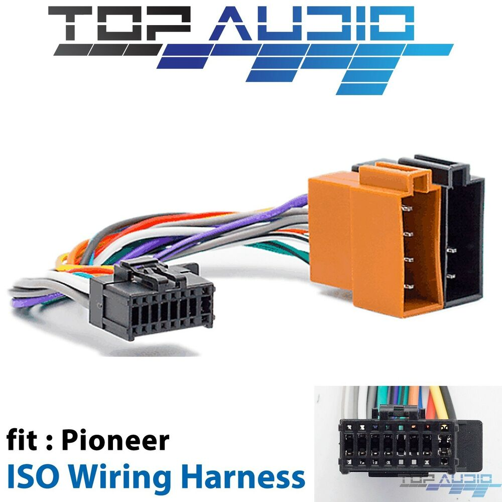 Pioneer Deh X7800dab Iso Wiring Harness Cable Connector Lead Loom Cablecar Car Audio Assemblywire Wire Plug Ebay