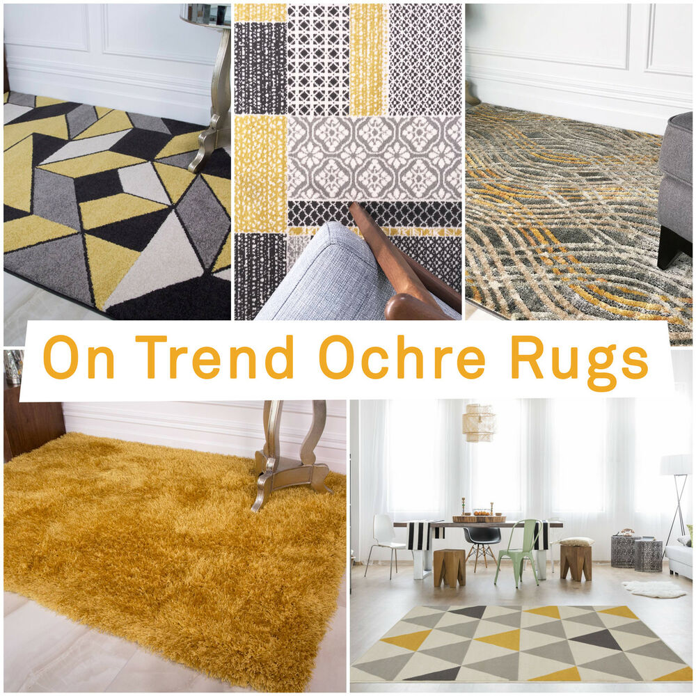 Large Area Rugs Gold: Ochre Mustard Yellow Gold Bright Large Area Rug Rugs For
