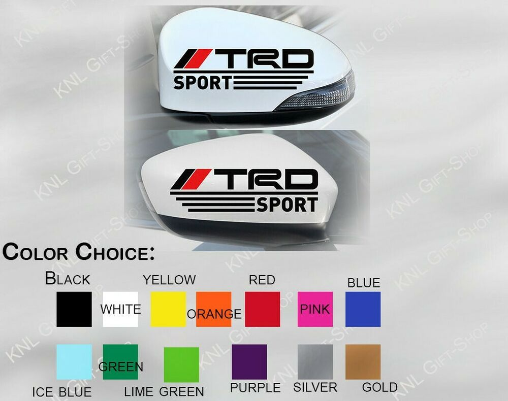 Details about trd decal toyota vinyl tacoma racing stickers jdm decals mirror set 2pcs