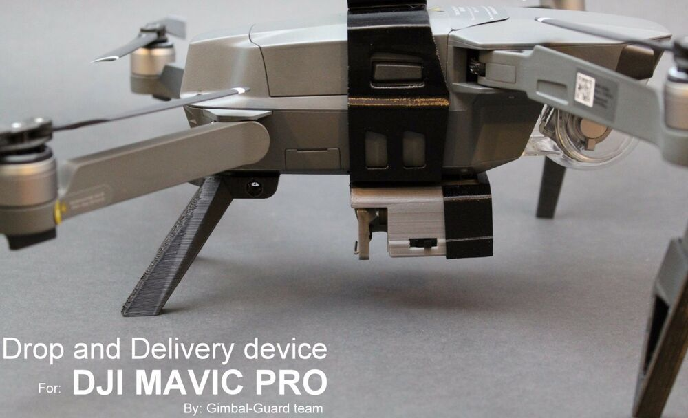 Drop Amp Delivery Device For Dji Mavic Pro Payload Release Drone Fishing Rescue 755897465295 Ebay