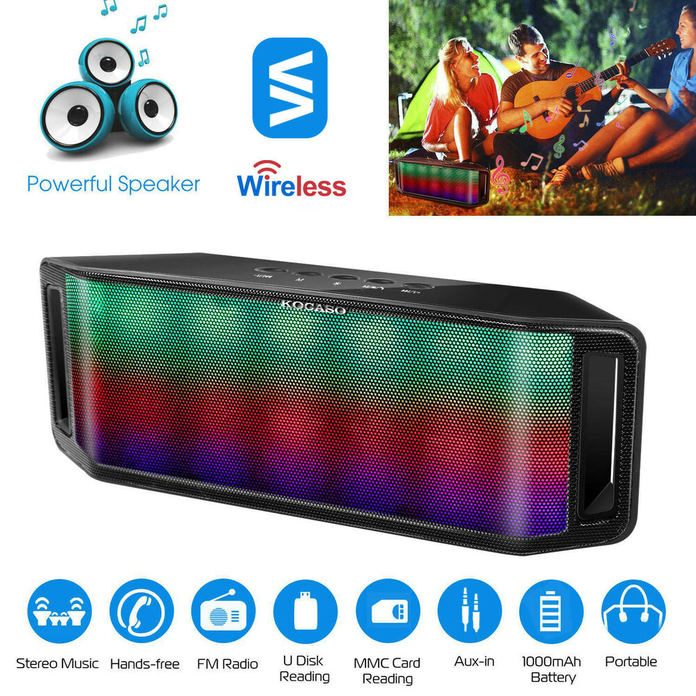 Portable Bluetooth Wireless Speaker Led Rainbow Dancing