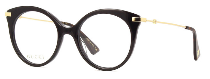 7bdc5391643c8  NEW AUTHENTIC  GUCCI GG0109O 001 BLACK GOLD EYEGLASS FRAME SIZE 50mm  889652078342   eBay
