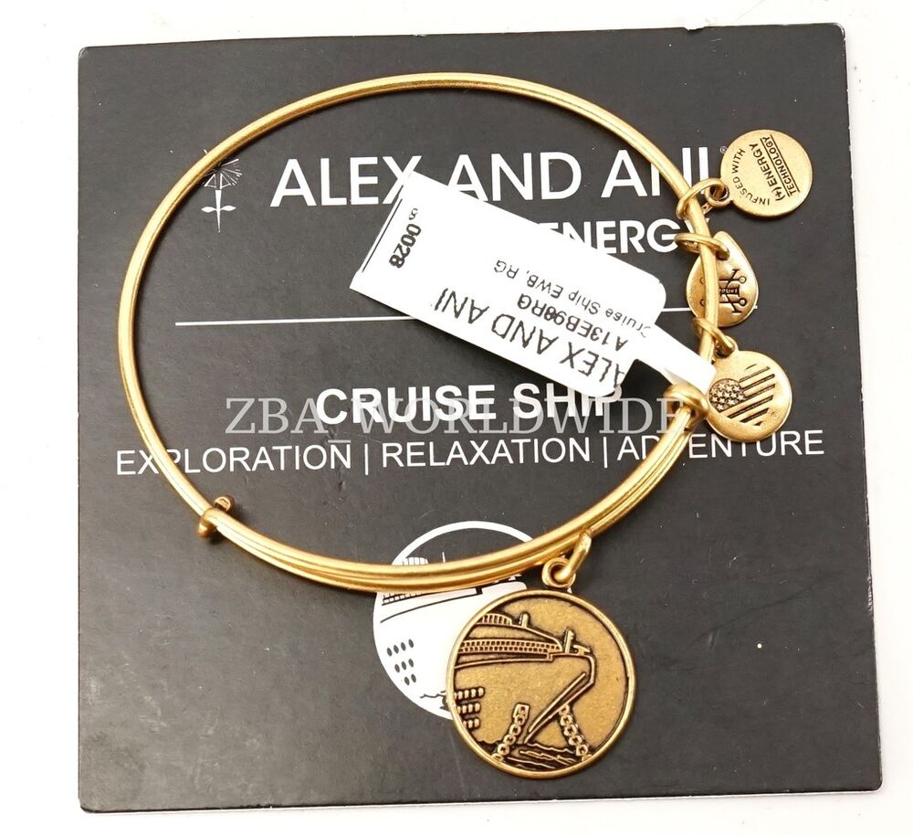 New Charm Bracelets: NEW Alex And Ani Cruise Ship Gold Charm Bracelet Bangle