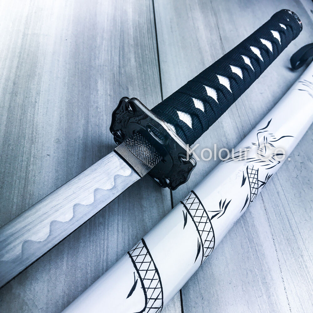 40 white dragon samurai ninja bushido katana japanese. Black Bedroom Furniture Sets. Home Design Ideas