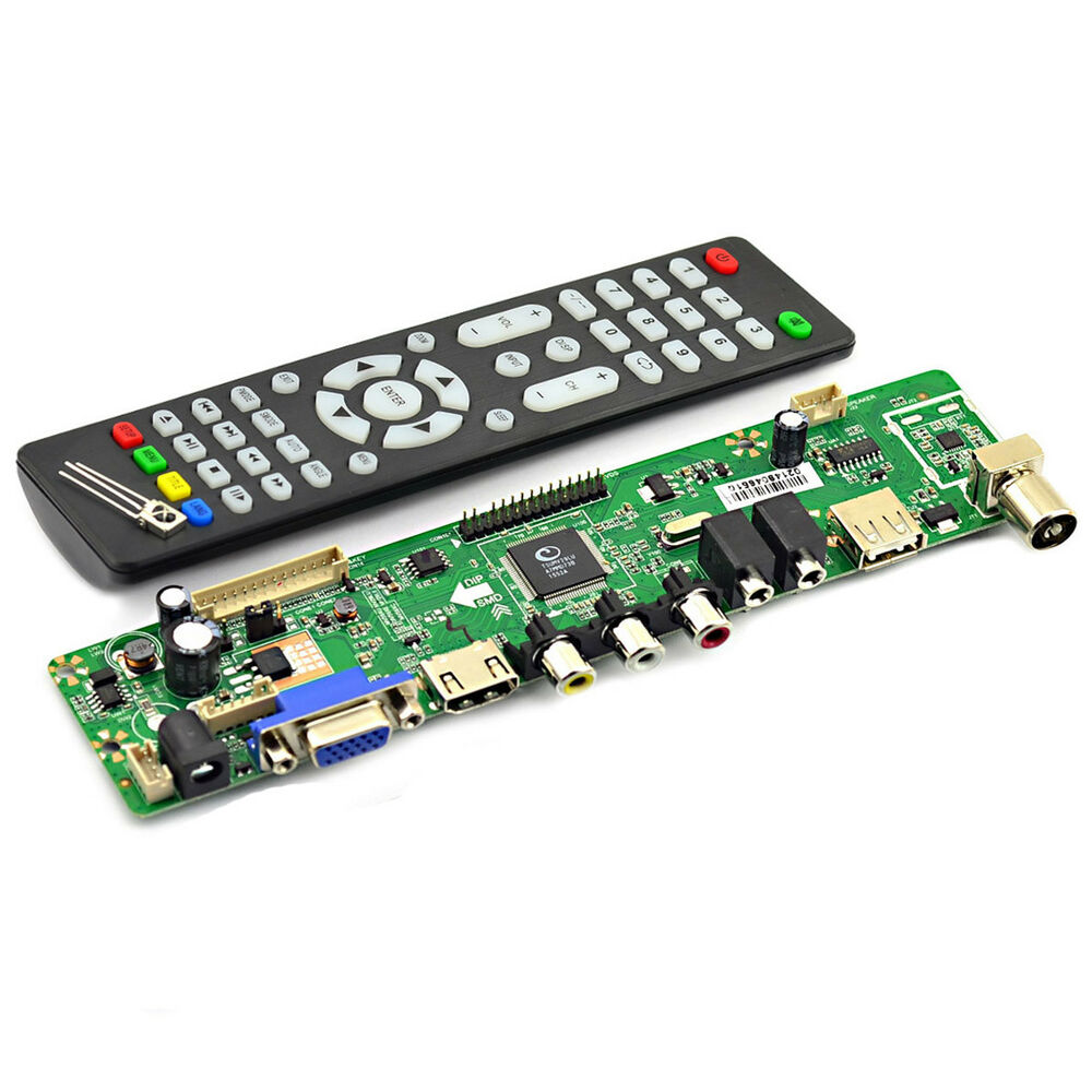 v59 universal lcd tv controller driver board with remote control and receiver 4894425514923 ebay. Black Bedroom Furniture Sets. Home Design Ideas