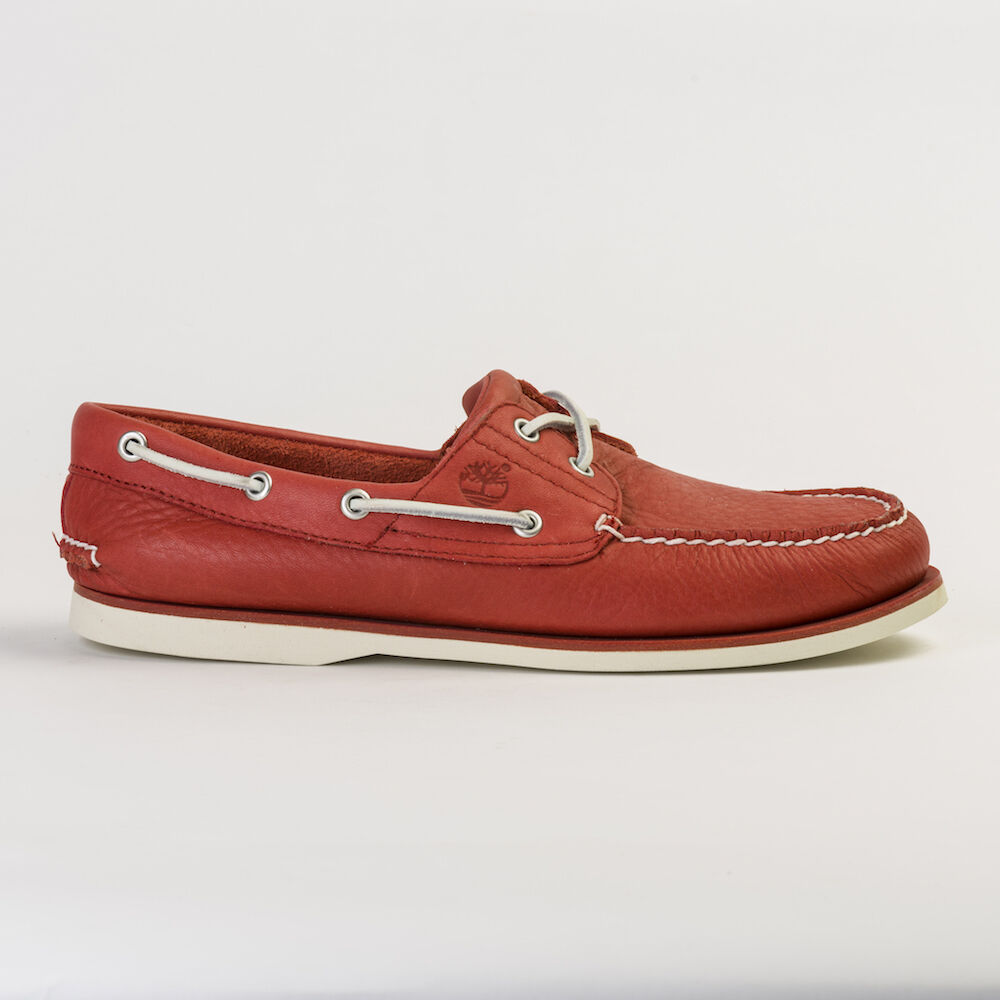 61f161001645 Details about TIMBERLAND A1BIK MEN S ICONIC 2-EYE CLASSIC RED BOAT SHOES  ALL SIZES