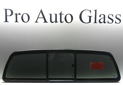 Sliding Slider Rear Window Back Glass Privacy Tinted for a 05-15 Toyota Tacoma