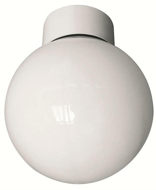 100w bathroom ceiling globe light fitting white with opal - Bathroom light replacement glass ...