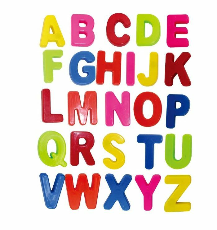 Colorful abc alphabet fridge magnets early letter magnetic for Letter fridge magnets game