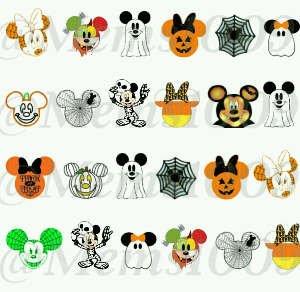 Disney Halloween Nail Art (water decals) Disney Nail ...