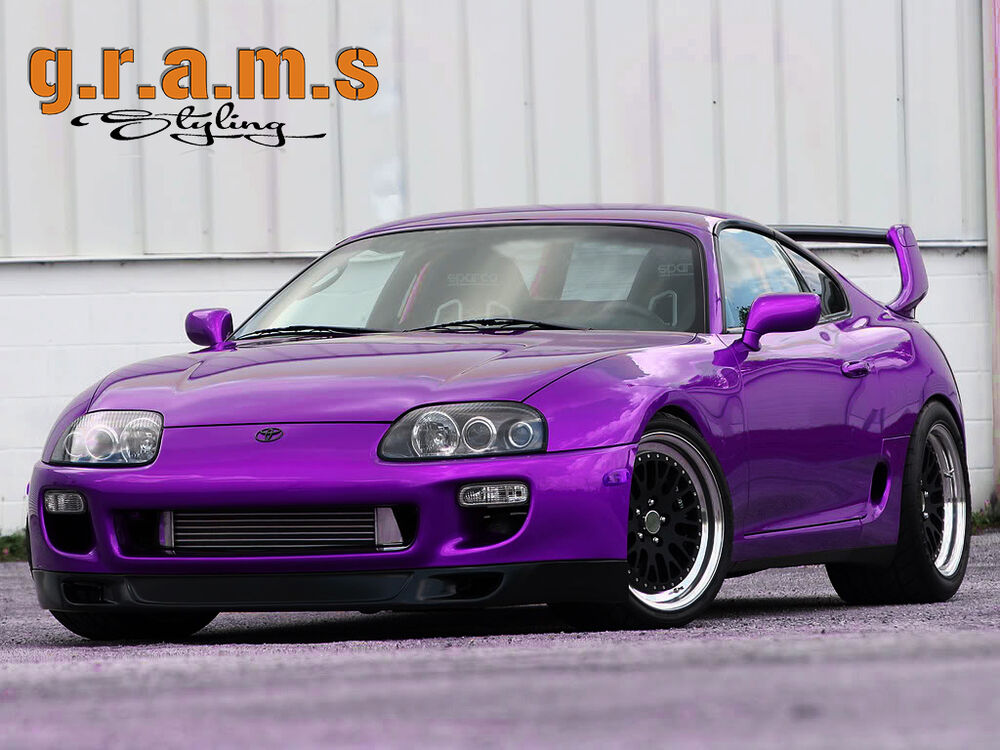 toyota supra mk4 front bumper lip ww wings west style for body kit racing v6 ebay. Black Bedroom Furniture Sets. Home Design Ideas
