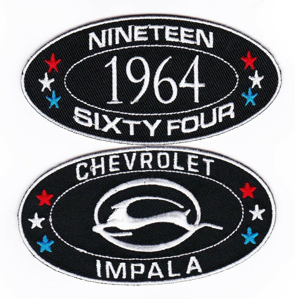 1964 chevy impala sewiron on patch embroidered badge emblem 1964 chevy impala sewiron on patch embroidered badge emblem chevrolet lowrider ebay buycottarizona Images