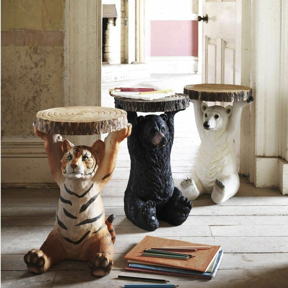 Kare Design Animal Theme Bedside Tables Quirky Side Tables