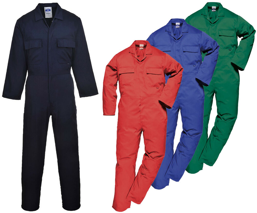 mens portwest euro coverall workwear overall boiler suit s999 ebay. Black Bedroom Furniture Sets. Home Design Ideas