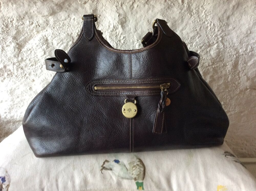 Details about Genuine MULBERRY Somerset Tote Shoulder Bag - Chocolate Brown  Leather 902d8c45b6