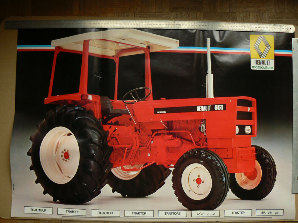 affiche ancienne tracteur renault 651 poster tractor