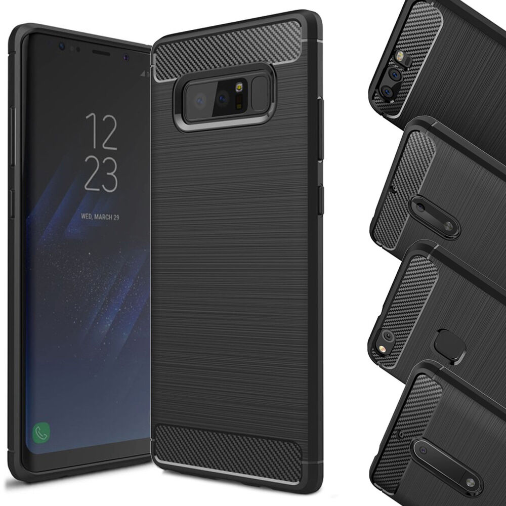 brushed tpu silikon case schutz h lle handy tasche samsung galaxy huawei p10 ebay. Black Bedroom Furniture Sets. Home Design Ideas