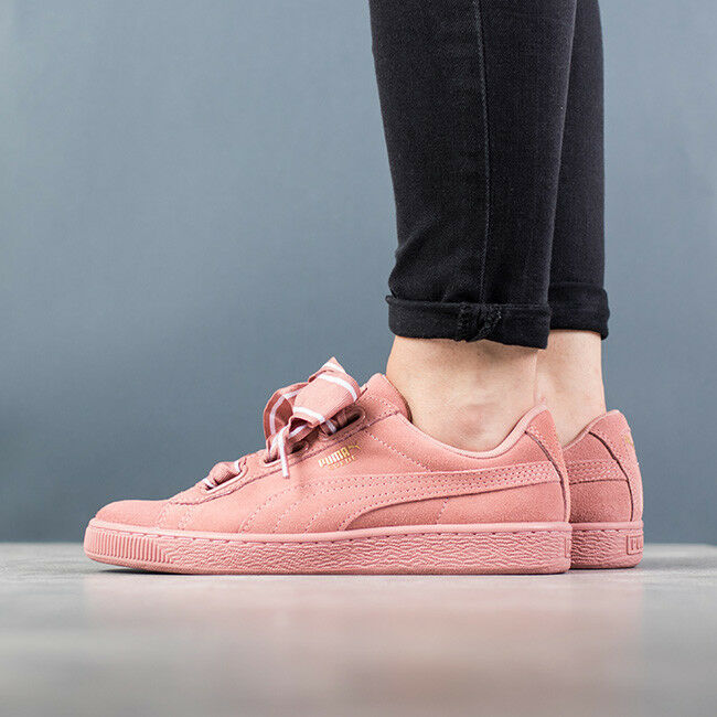 Details about WOMEN S SHOES SNEAKERS PUMA SUEDE HEART SATIN II  364084 03  be9705616