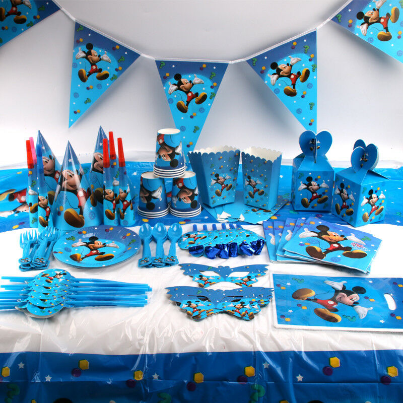Mickey Mouse Kids Birthday Party Supplies Favor Tableware