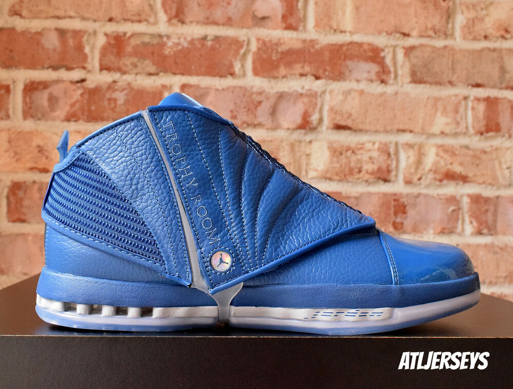 5c9723092638 Details about Nike Air Jordan 16 XVI Retro Trophy Room French Blue  854255-416 Size 10.5