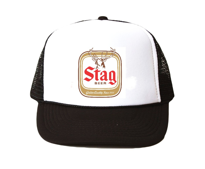 a3732fa2a5c Details about Vintage Stag Beer hat Trucker Hat mesh hat black new