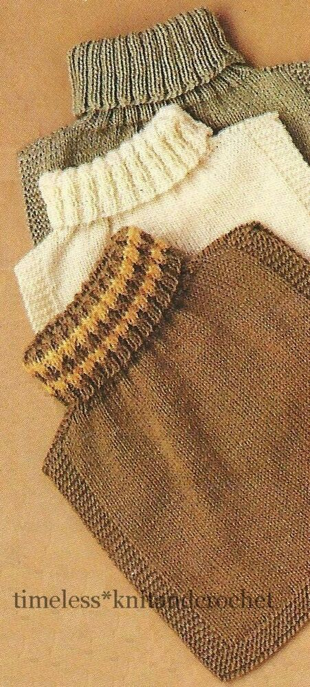 VINTAGE KNITTING PATTERN FOR WARM & COSY POLO NECK INSERTS / WIND ...