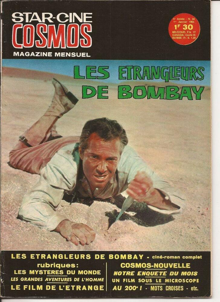 Details about French Star Cine Cosmos #84 The Stranglers Of Bombay Movie  Photo Novel B & W