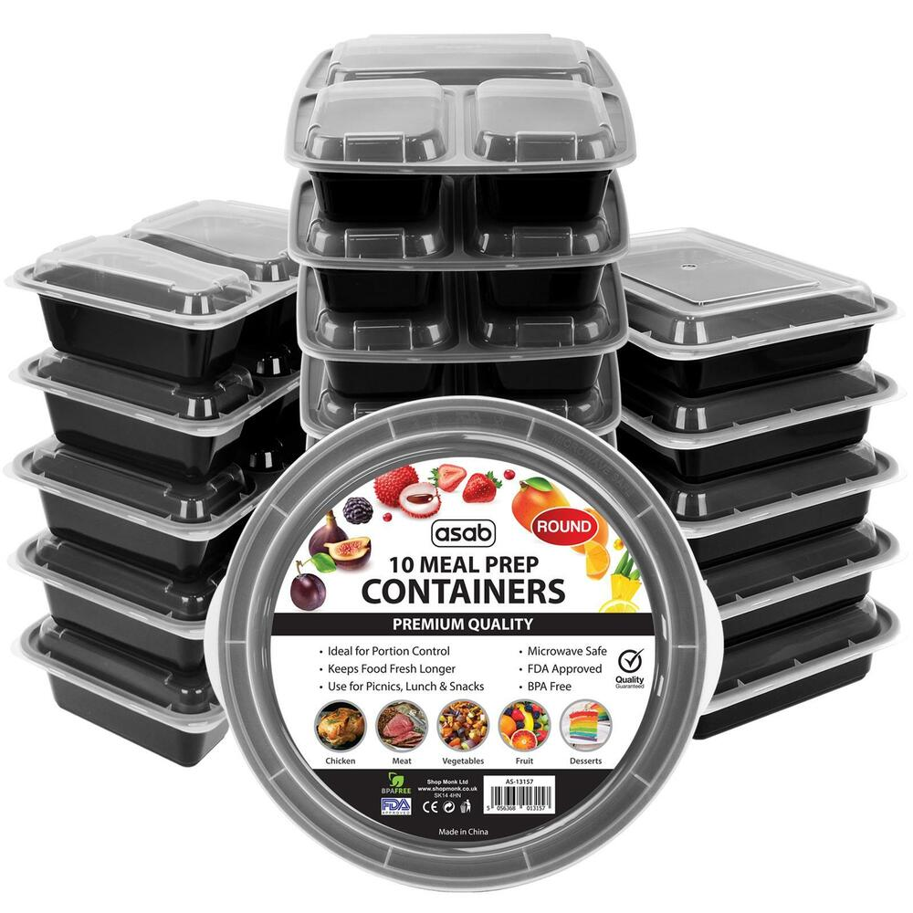 Meal Prep Food Containers Stack Microwavable Bpa Free