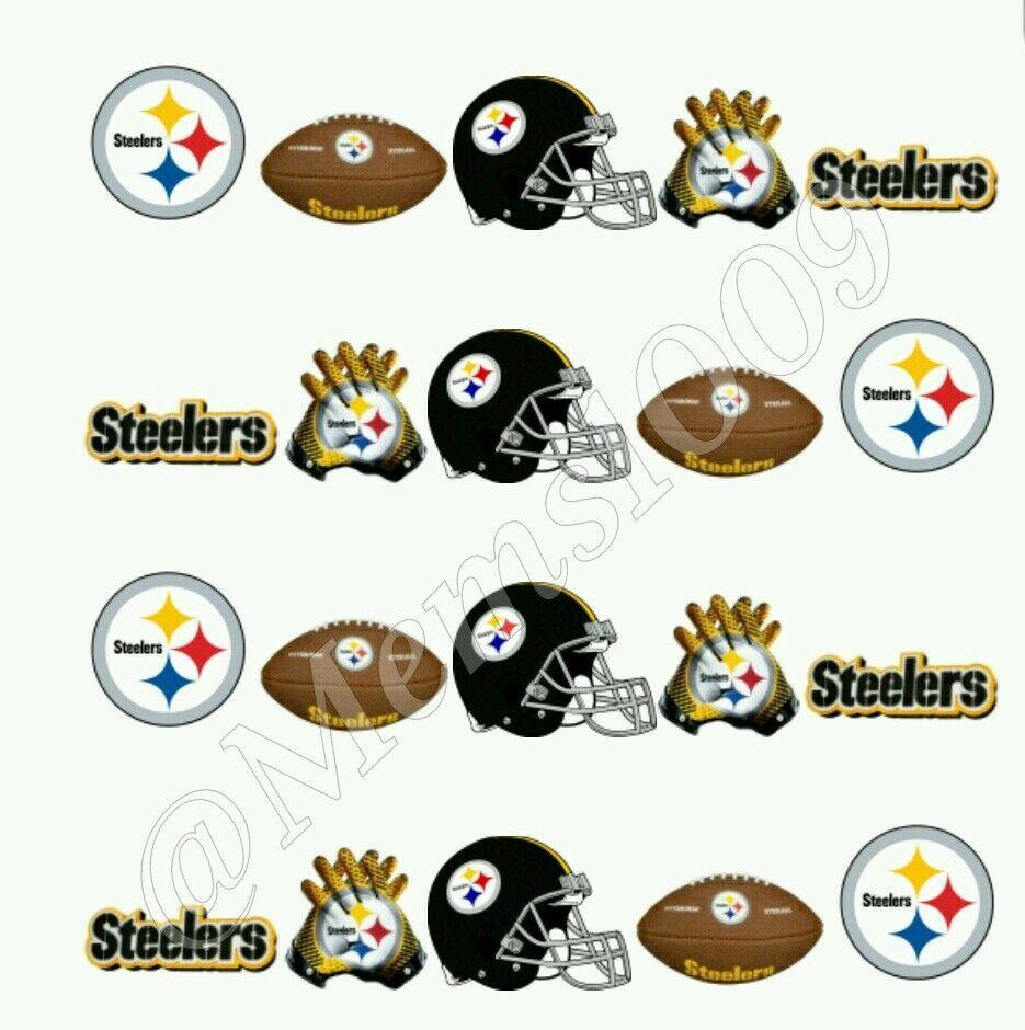 NFL Pittsburgh Steelers Nail art (water decals) Steelers nail decals ...
