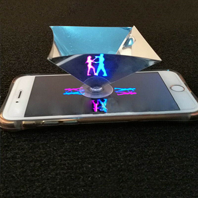 For Smart Phone 3D Holographic Hologram Display Pyramid