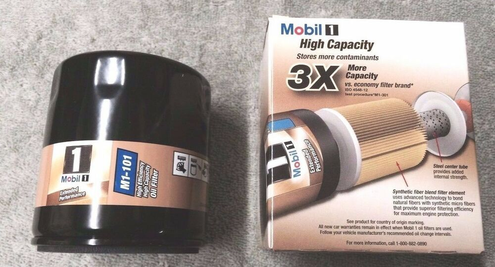 Mobil 1 Oil Filter >> Mobil 1 M1 101 2 Pack Ext Performance Oil Filter Free Shipping Ebay